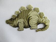 #2639La Green Stegosaurus Dinosaur Animal Embroidery Applique Patch-L