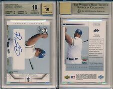 Prince Fielder 2002 Upper Deck Prospect Prem. Rookie Card Rc BGS 10 Auto 10 x728