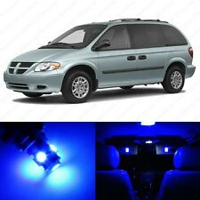 18 x Ultra Blue LED Interior Light Package For 2001 - 2007 Dodge Caravan