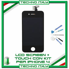TOUCH SCREEN + LCD RETINA + FRAME + KIT PER IPHONE 4G NERO VETRO DISPLAY SCHERMO