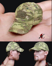 """1: 6 Scale Soldier ARMSHEAD Baseball caps MC PMC For 12"""" Action Figure Camouflag"""