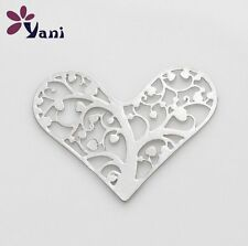 New 28mm Lucky Tree silver Heart for glass Living Memory Locket Floating charm
