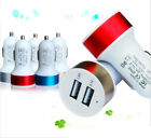 Colorful Bullet Car Charger Adaptor Dual USB 2-Port for iPod iPhone 4 5S Samsung