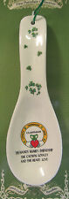 Irish Souvenir FINE PORCELIN SPOON REST WITH SHAMROCK CLADDAGH RING DESIGN