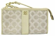 Coach Julia Signature Op Art Zippy Wallet Wristlet Clutch 46805