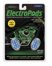 Street FX - 1041902 - Electropods Oval Lightpod, Blue/Chrome