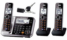 PANASONIC DECT 6.0 TRIPLE CORLDLESS PHONE BLUETOOTH CELL LINK FINDER KX-TG7893