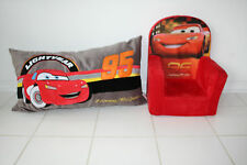 "DISNEY PIXAR CARS ""LIGHTNING McQUEEN"" FOAM CHILD / TODDLER CHAIR & PLUSH PILLOW"