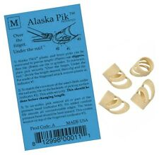 ALASKA PIK GUITAR / STRINGED INSTRUMENT FINGER PICKS MEDIUM (4-PACK) *NEW*