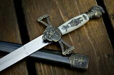 "14"" KING ARTHUR MEDIEVAL Historical SHORT SWORD DAGGER Scabbard w/ SHEATH"