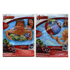 Marvel Avengers Inflatable Swim Ring Tube + Pool Beach Ball Toy Floaties Set NEW