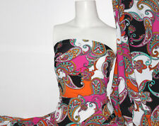 Paisley Print Lycra/Spandex 4 way stretch Matt Finish Fabric