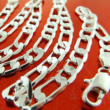 A830 GENUINE REAL 925 STERLING SILVER S/F SOLID MENS ITALIAN LINK NECKLACE CHAIN