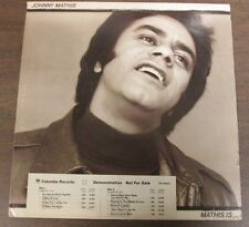 33 RPM Vinyl Johnny Mathis, Mathis Is... Promo, Columbia Records 042514ame