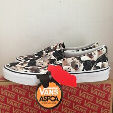 VANS CLASSIC SLIP ON ASPCA PUPPIES TRUE WHITE KIDS SIZE 11 NEW WITH BOX