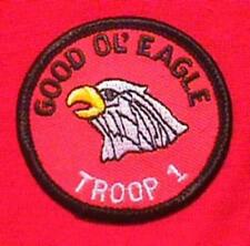 GOOD OL EAGLE Round Patrol Patch Wood Badge Course Cub Boy Scout beads BSA