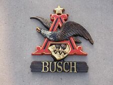 Busch Beer Sign w/Eagle Plastic  NICE!!!