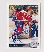 92/93 Upper Deck Kelly Miller Washington Capitals Autographed Hockey Card
