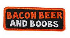 Bacon Beer and Boobs  MC FUNNY 4 inch BIKER PATCH