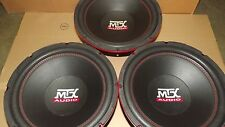 "3- MTX AUDIO 12"" SUBWOOFERS 100 RMS EACH .7 OHM"