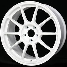 WHITE 17X9 +25 Rota SS10 R 5X114.3 Wheels Fit Sti Eclipse Lancer Evo 8 9 X 5X4.5