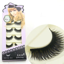 Soft 5 Pairs Long Makeup Thick False Eyelashes Eye Lashes Nautral Cross Handmade