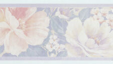 Orange Peach Lilac Purple Mauve Rose Large Flowers Rolls Wall Wallpaper Border