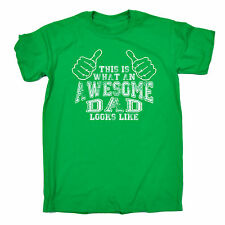 What An Awesome Dad Looks Like T-SHIRT Daddy Fathers Day Funny Gift Christmas