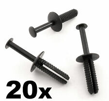 20x Bmw 6mm Push colocar plástico Remache Pin Clip-parachoques, moldura interior Panel Tablero