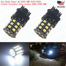 JDM ASTAR 3157 3156 White AX-2835 SMD Car Turn Signal Tail Brake Light LED Bulbs