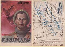 """BOCCASILE - X FLOTTIGLIA  MAS - RSI - VIAGGIATA 21-8- 1944 ( BOLLO  """"DECIMA"""")"""