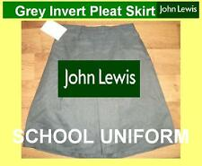 "John lewis Fashionable grey school skirt NEW age 7-8 waist 22-24"" RRP £9.00"