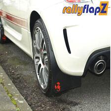 Rallyflapz Kaylan Mudflaps Fiat 500 Abarth (2008 on) Black + Red Scorpion Logo