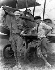 8x10 Print Col Charles Lindbergh Early Images with Bi Plane 1922 #CL10