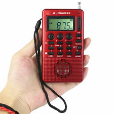 Pocket FM/AM 2 Band Radio MP3 Music Player(TF card & AUX input) USB Speaker