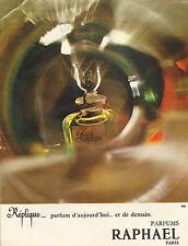 Publicité Advertising 1965  Parfum RAPHAEL  Réplique