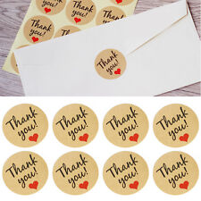 60x Round Letter Print Adhesive Kraft Sticker Label Seal Gift Box Bag DIY 3.5cm