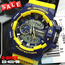 G-SHOCK BRAND NEW WITH TAG G-SHOCK GA-400-9B YELLOW X BLUE Hyper Colors WATCH