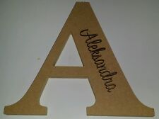 Large FREESTANDING LETTER & NAME Nursery,Timber Custom wood cutout personalised