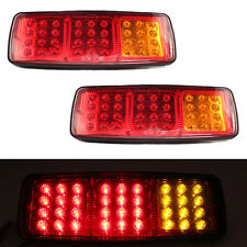 2PCS 36 LEDS 24V DC Trailer Car Truck LED Tail Light Lamp Auto Rear Light