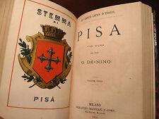 Le Cento Città d'Italia - Cini : Genova + De Nino : Pisa - Muggiani 1879 Stemmi