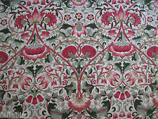 "WILLIAM MORRIS CURTAIN FABRIC DESIGN ""Lodden"" 3.55 METRES ROSE/THYME DARP222524"