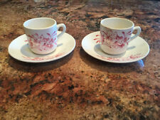 """Lot of 2  ~  Wade """"MEADOW"""" England Demi-tasse cup and saucer"""
