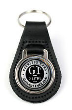Triumph GT 2Ltr Logo Quality Black Leather Keyring