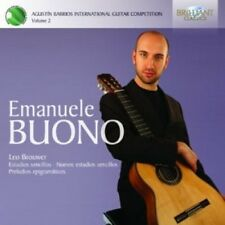 EMANUELE BUONO -BARRIOS COMPETITION VOL.2 CD KLASSIK SOLOINSTRUMENT NEU BROUWER