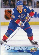 16/17 UPPER DECK CANVAS RETIRED STARS #C245 BRETT HULL BLUES *29434
