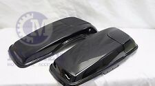 Vivid Black 2014-2016 5x7 CVO Style Speaker lids with Grills for Harley Touring