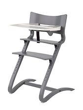 Leander Stuhl grau lackiert Babyhochstuhl Kinderstuhl + Bügel + Tablett NEU !!!