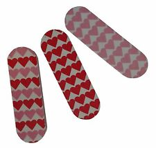 Avon 3 Mini Nail Files - Cute Pink Hearts Pattern