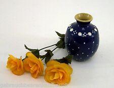 Kohrener Keramik Töpferei schöne Vase blau mit weissen Punkten